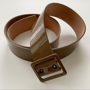 J. Crew Wide Patent Leather Belt